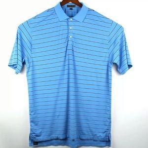 Peter Millar Summer Comfort Polo Blue White Shirt